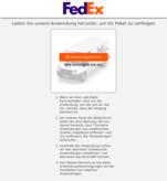 Gefälschte Meldung von Fedex
