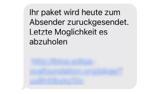 Smishing - SMS-Phishing
