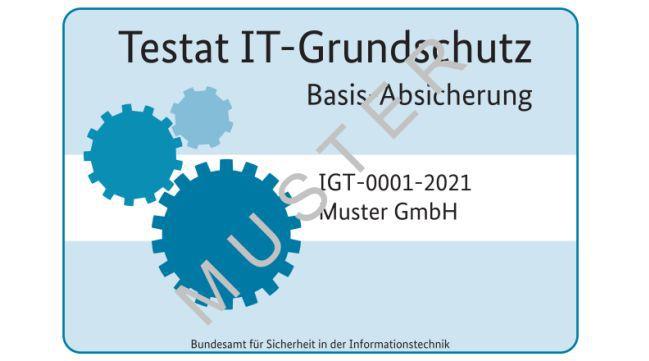 Muster eines IT-Grundschutz-Testats nach Basis-Absicherung